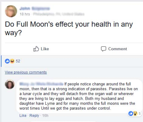 full moon and parasites